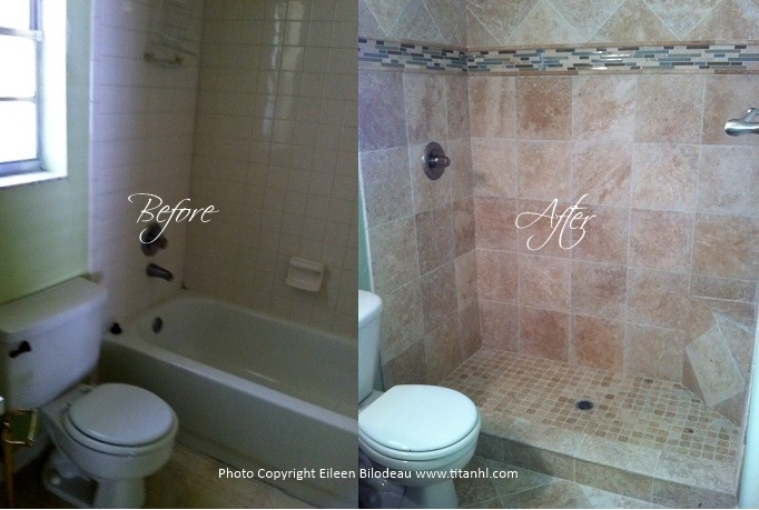 Eileen Master Bath Before and After